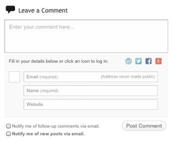 comment box